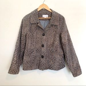 Vintage Animal Print Erin London Jacket Sz M